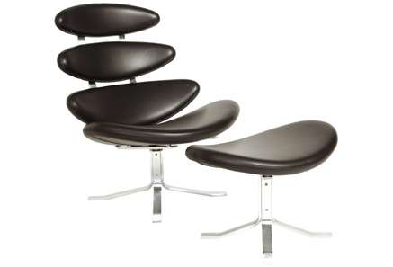 ... Volther Corona Chair U0026 Stool In Black Leather. Hip Props Hire. Poul  Volther Corona Chair U0026 Stool In Black Leather. Hip Props Hire. Moden  Furniture Hire