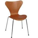 Hip Props - Arne Jacobsen Model 3107 side chairs in Cherry. Fritz Hansen originals - Kays