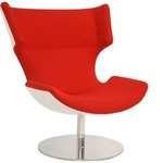 Hip Props - Patrick Norguet Boson chair in red fabric white shell - Kays