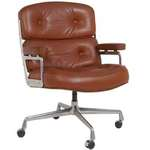 Hip Props - Charles Eames vintage Time Life desk chair in tan leather. Herman Miller production - Kays