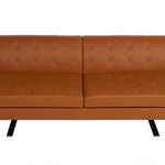 Hip Props - Jean Marie Massaud Kennedee 2 seat sofa in tan leather. Poltrona Frau production - Kays