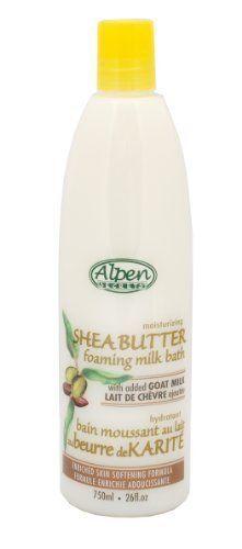 Alpen secrets goat milk foaming milk bath with shea butter