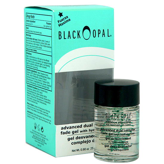 Black opal advanced dual complex fade gel with hydroquinone