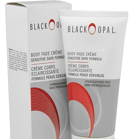 Black opal body fade creme sensitive skin hydroquinone free