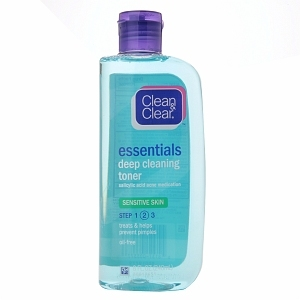 Clean and clear deep cleansing toner