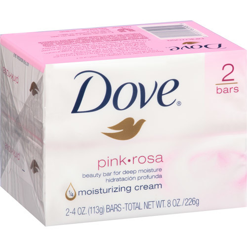 Dove pink rosa beauty cream bar pack of 2