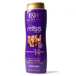 Fair and white miss white 14 day body lotion