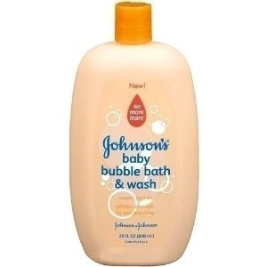 Johnsons baby bubble bath and wash with sweet melon
