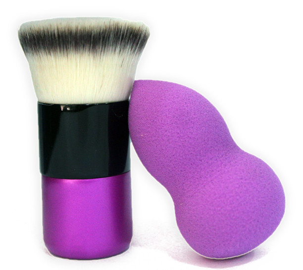 Kuddy cosmetics kabuki brush and beauty blender