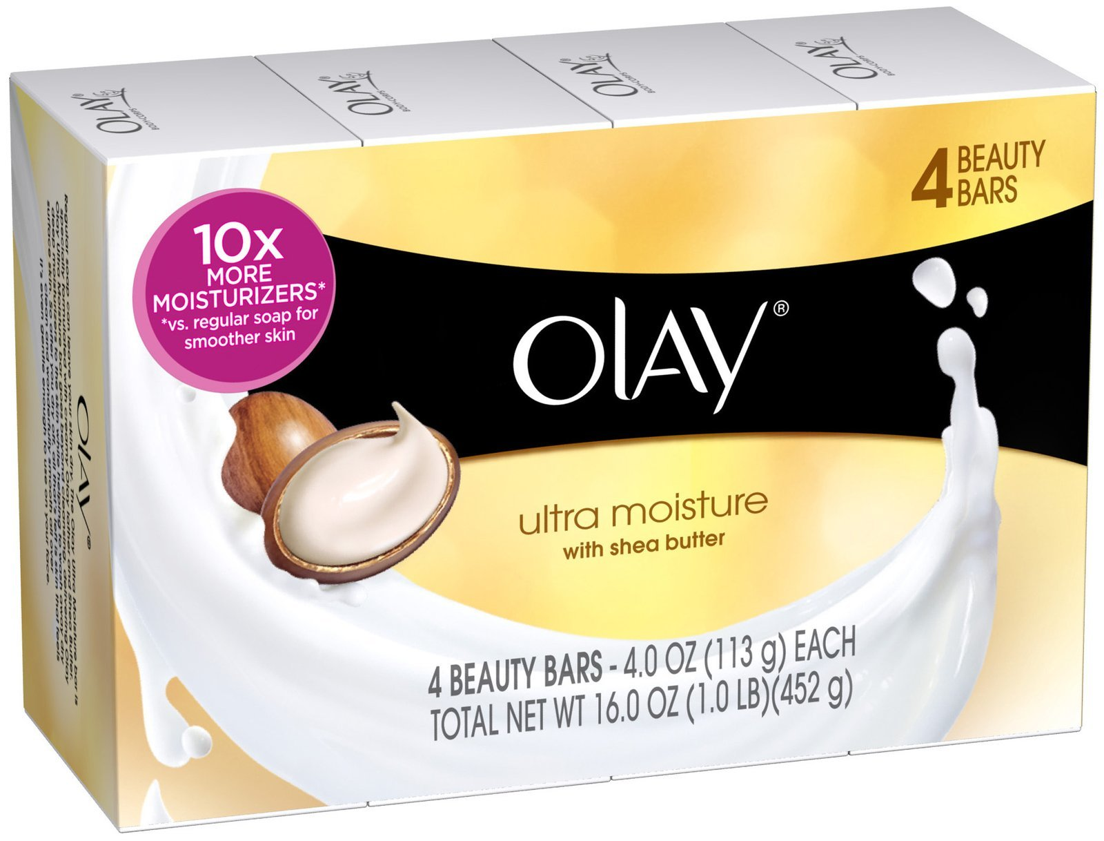 Olay ultra moisture beauty with shea butter bar soap pack of 4