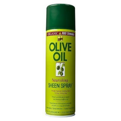 Organic root olive oil sheen spray