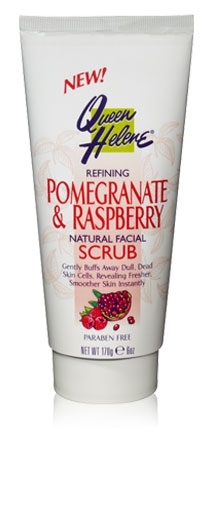 Queen helene pomegranate and raspberry natural facial scrub