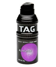 Tag all nighter body spray