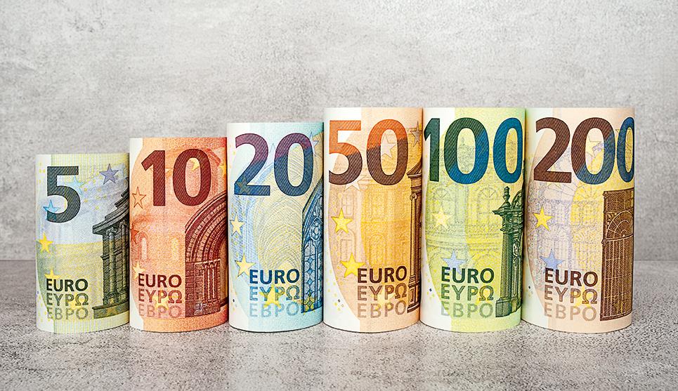 billetes de euro para las mejores cuentas corrientes