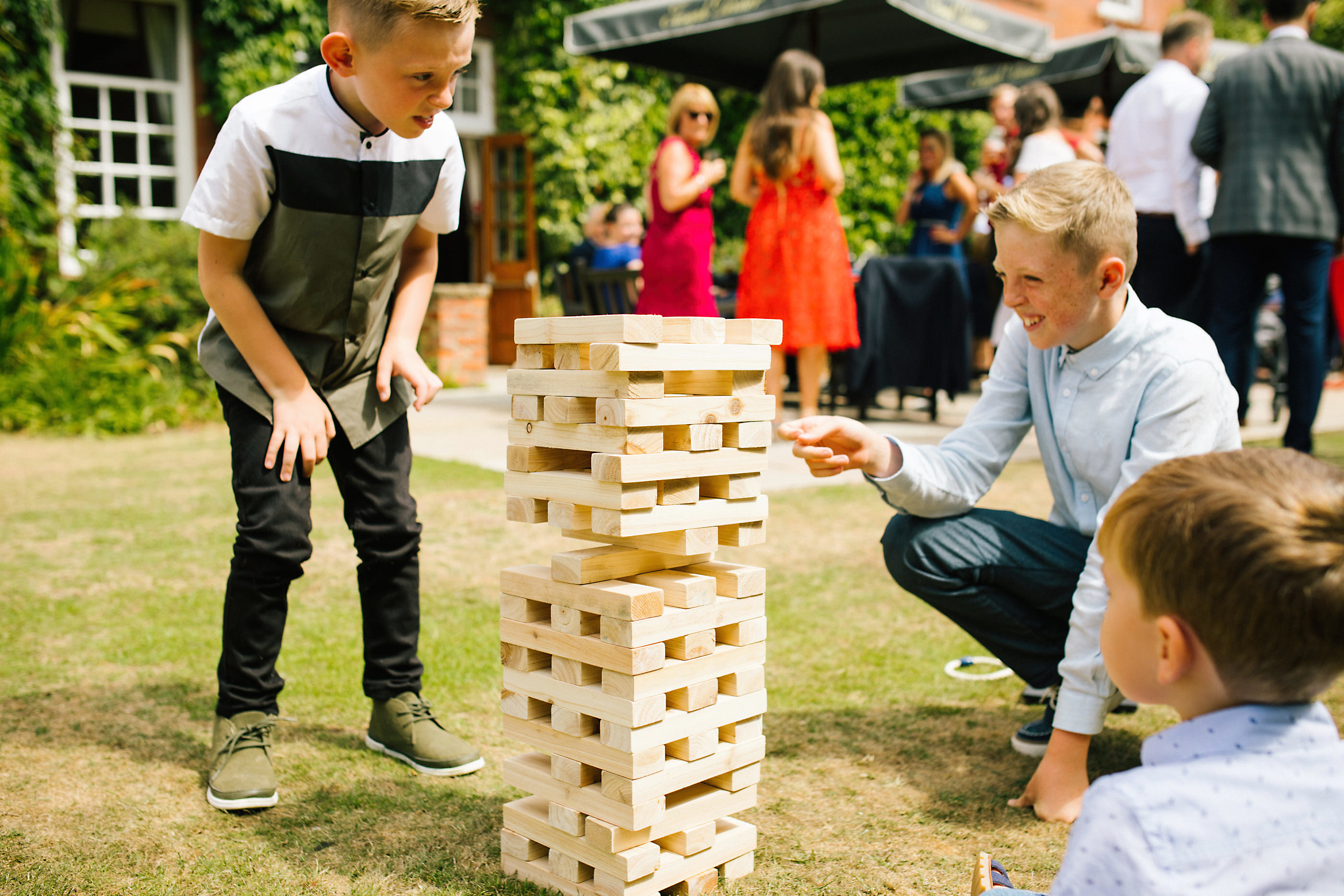 giant jenga wedding garden games