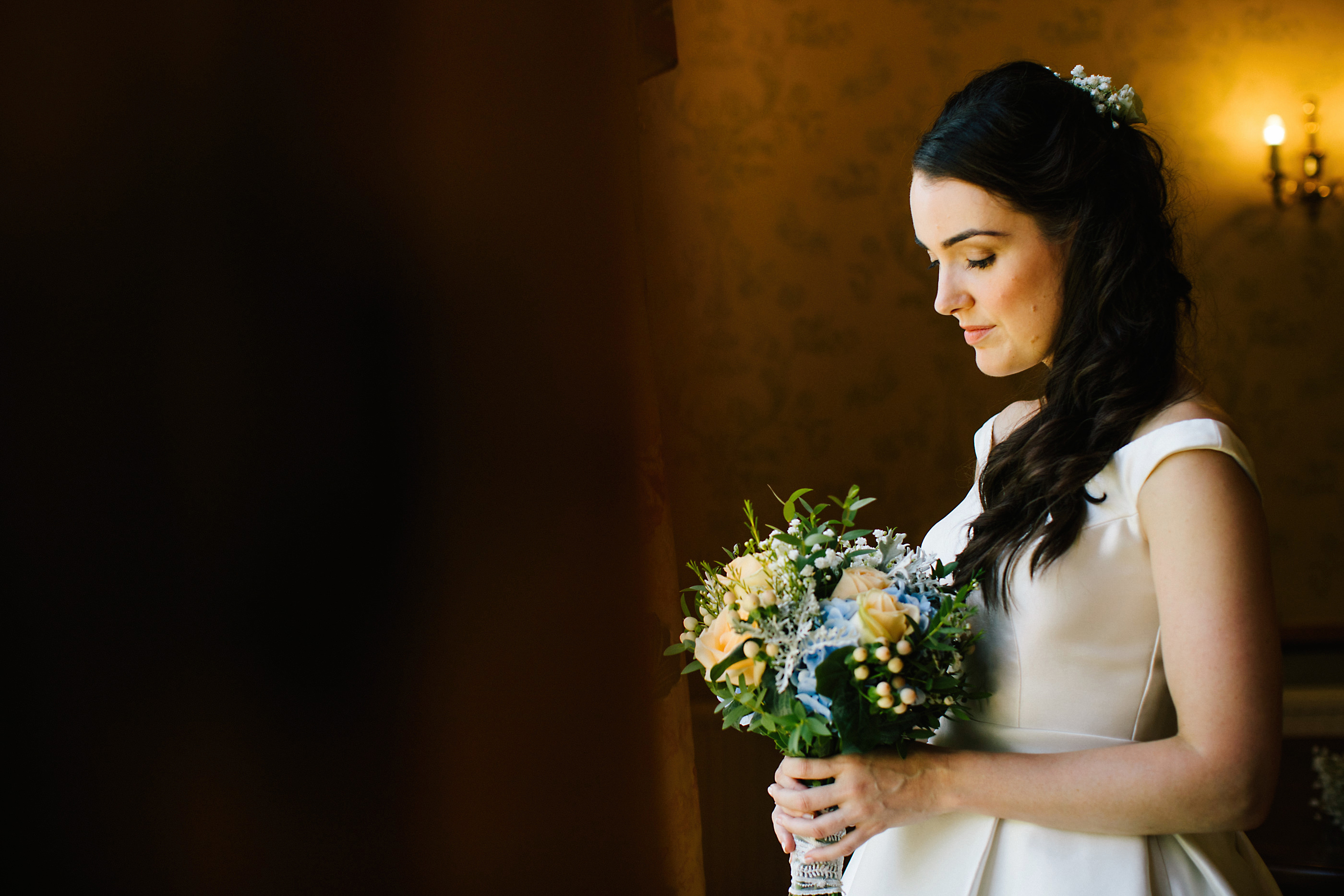 bride at the window at nunsmere hall