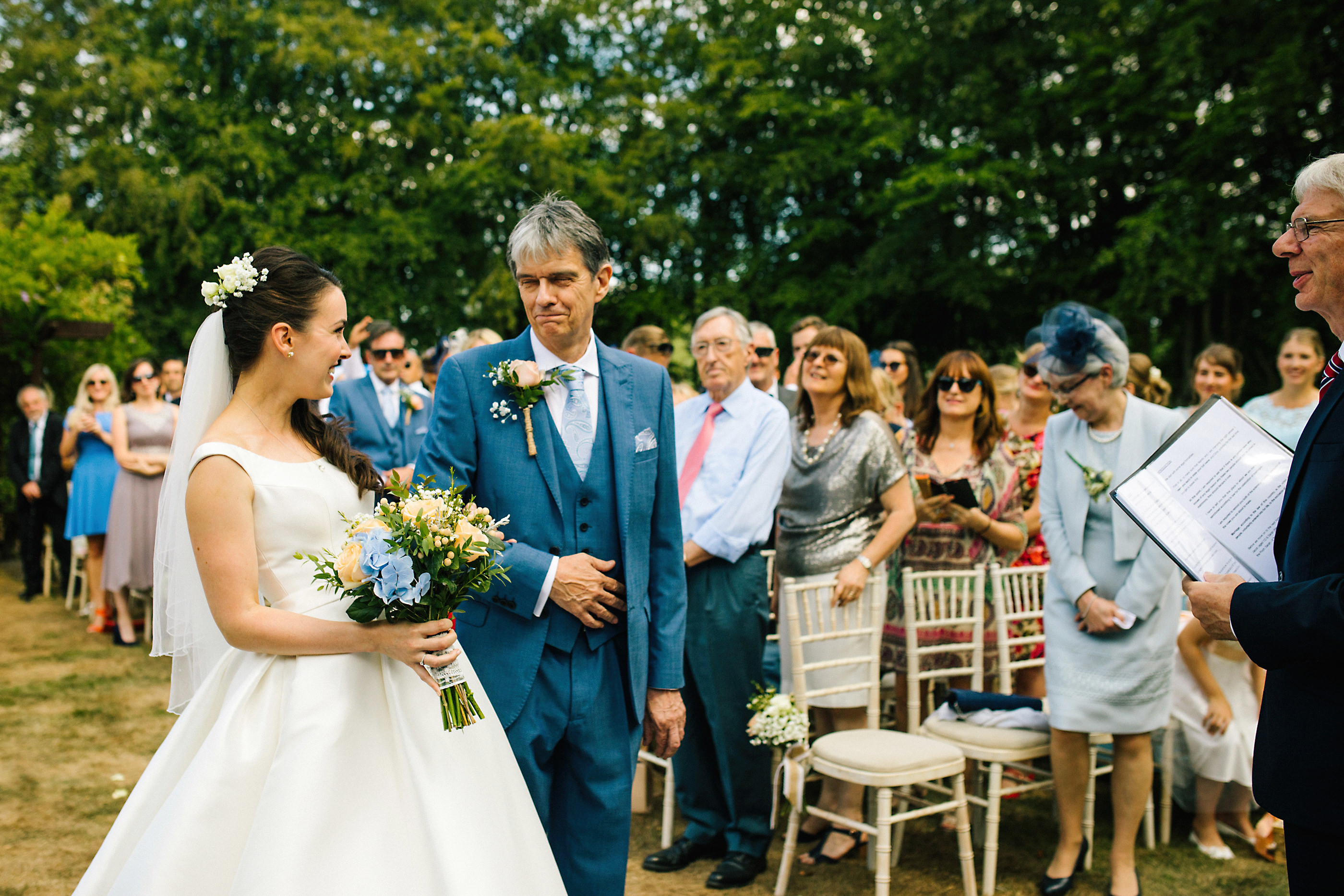 outdoor wedding at nunsmere hall
