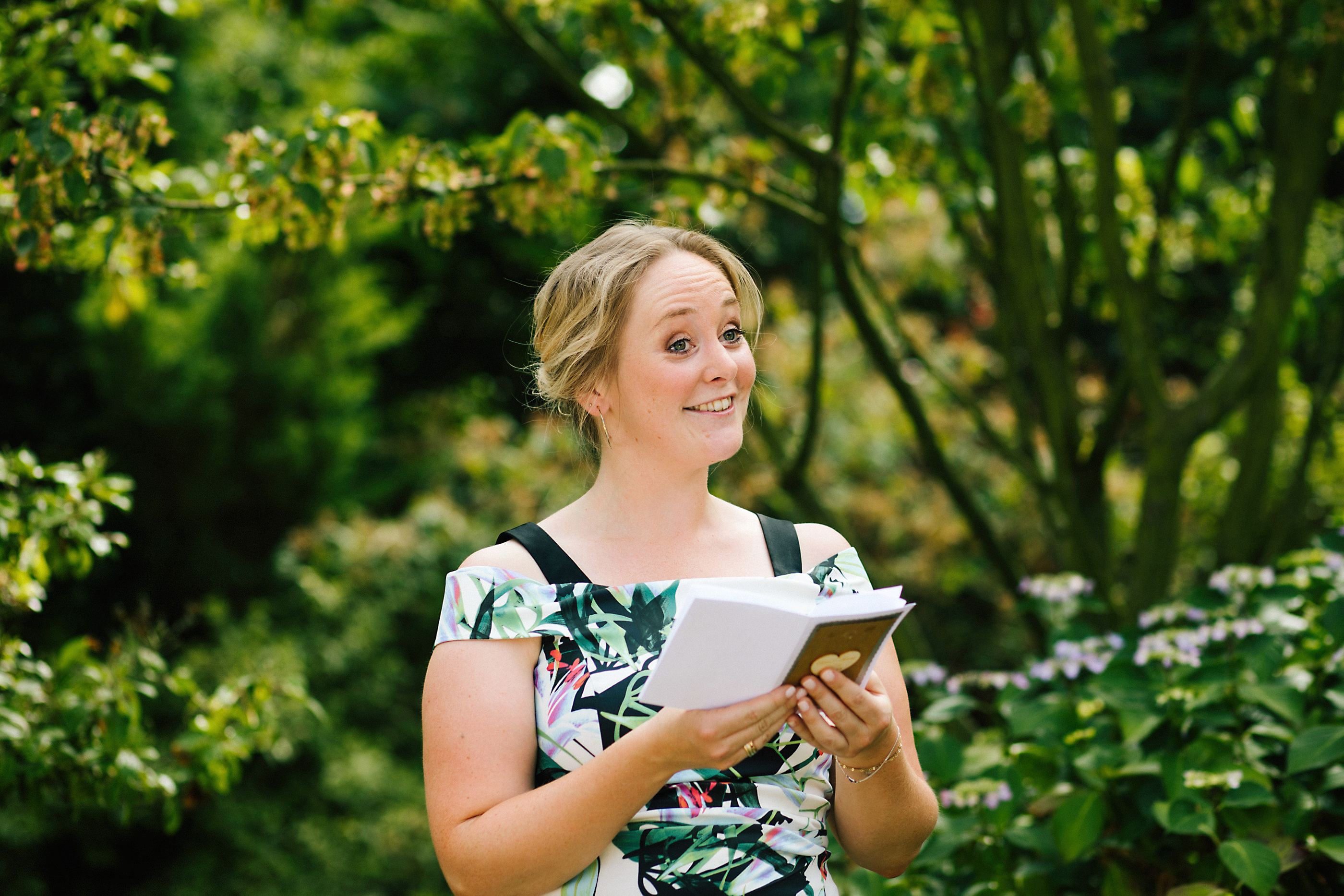 nunsmere hall outdoor garden wedding
