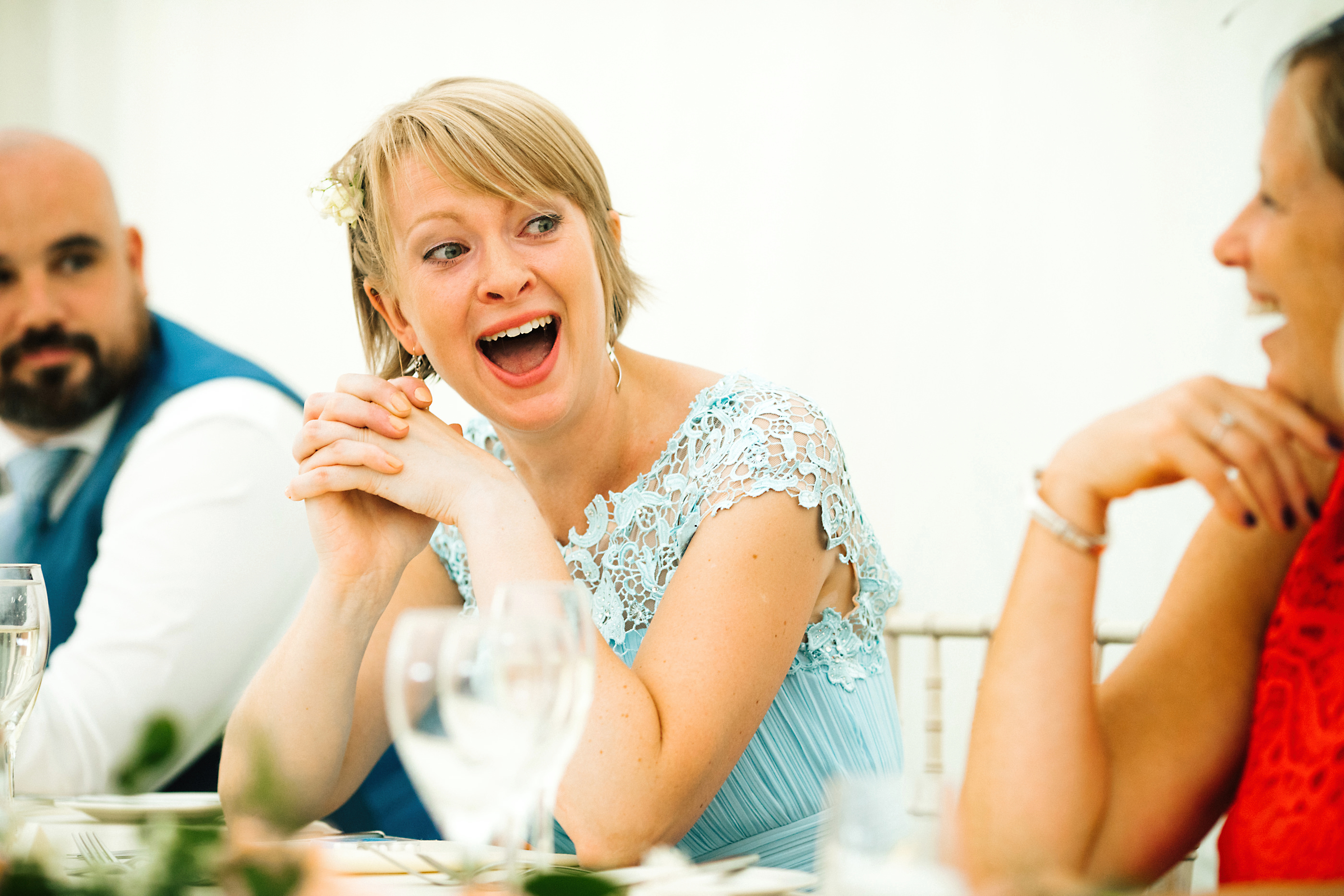maid of honor laughing