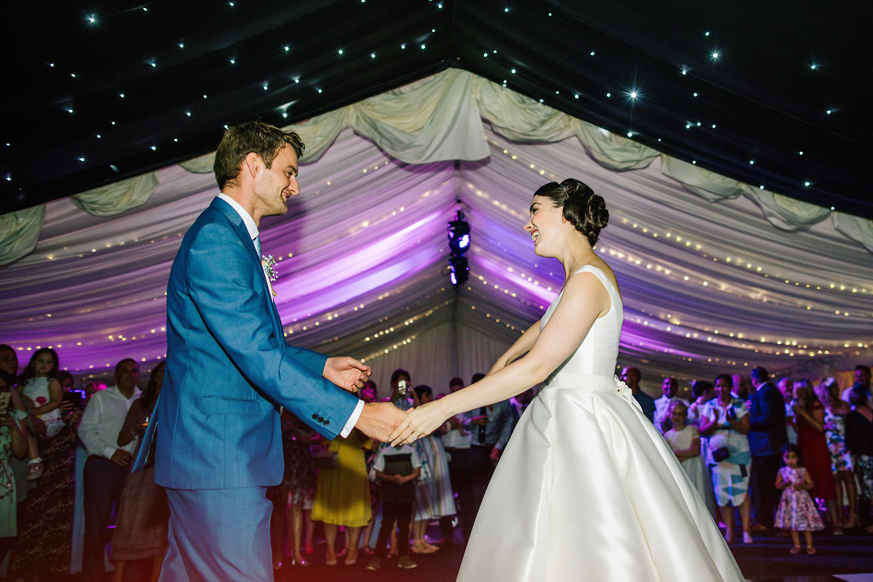 marquee wedding at nunsmere hall