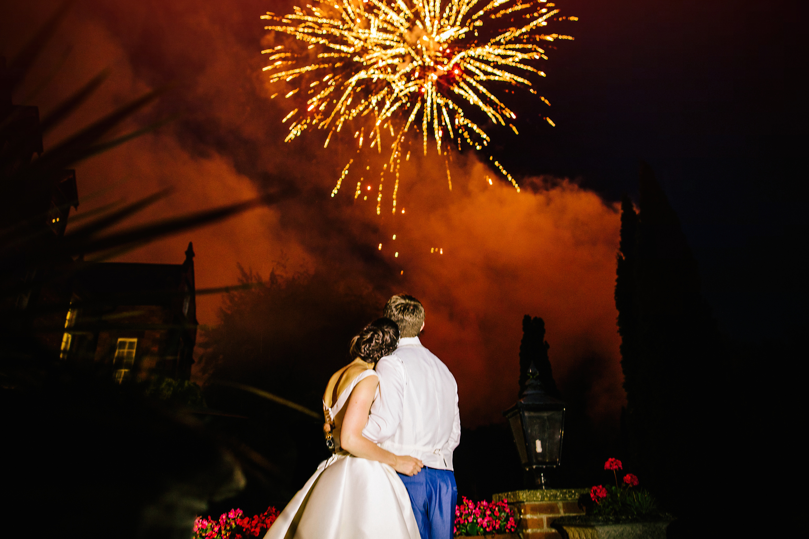 nunsmere hall wedding fireworks