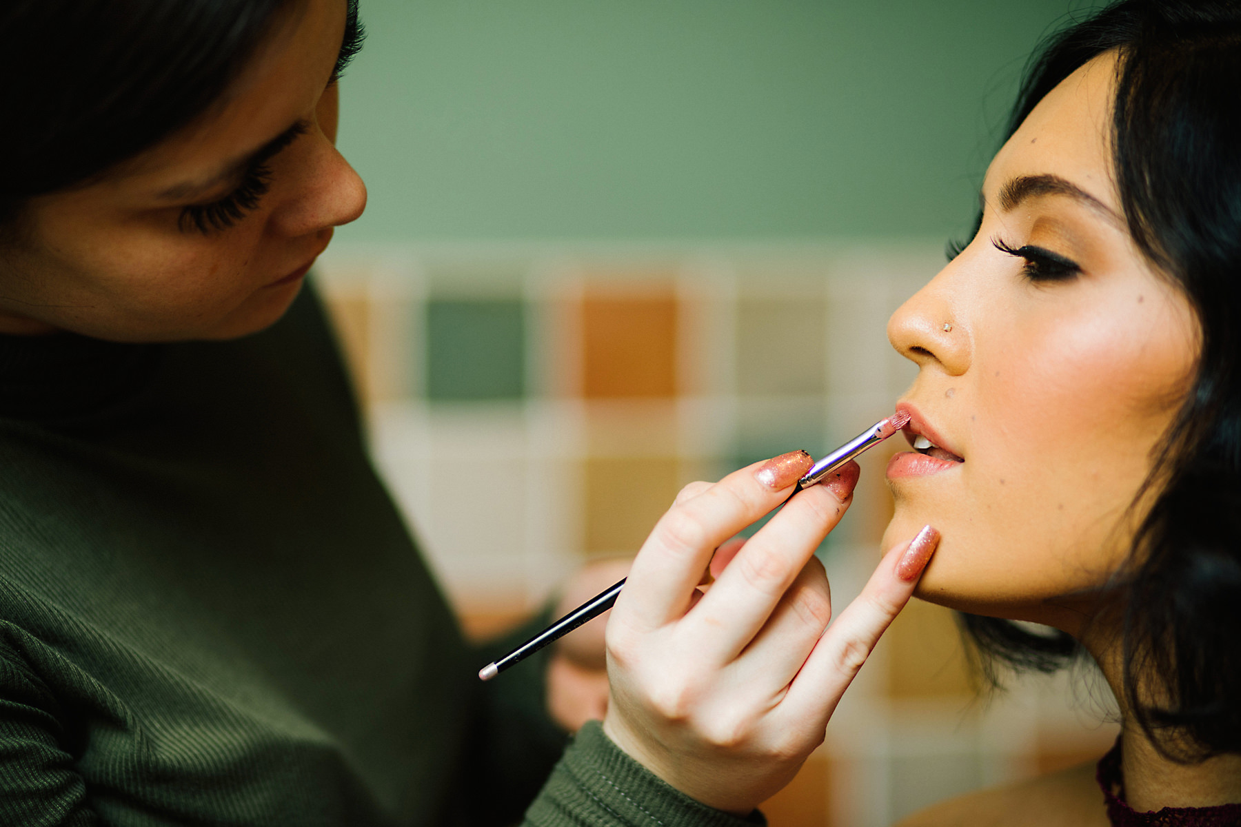 wedding makeup artist photo