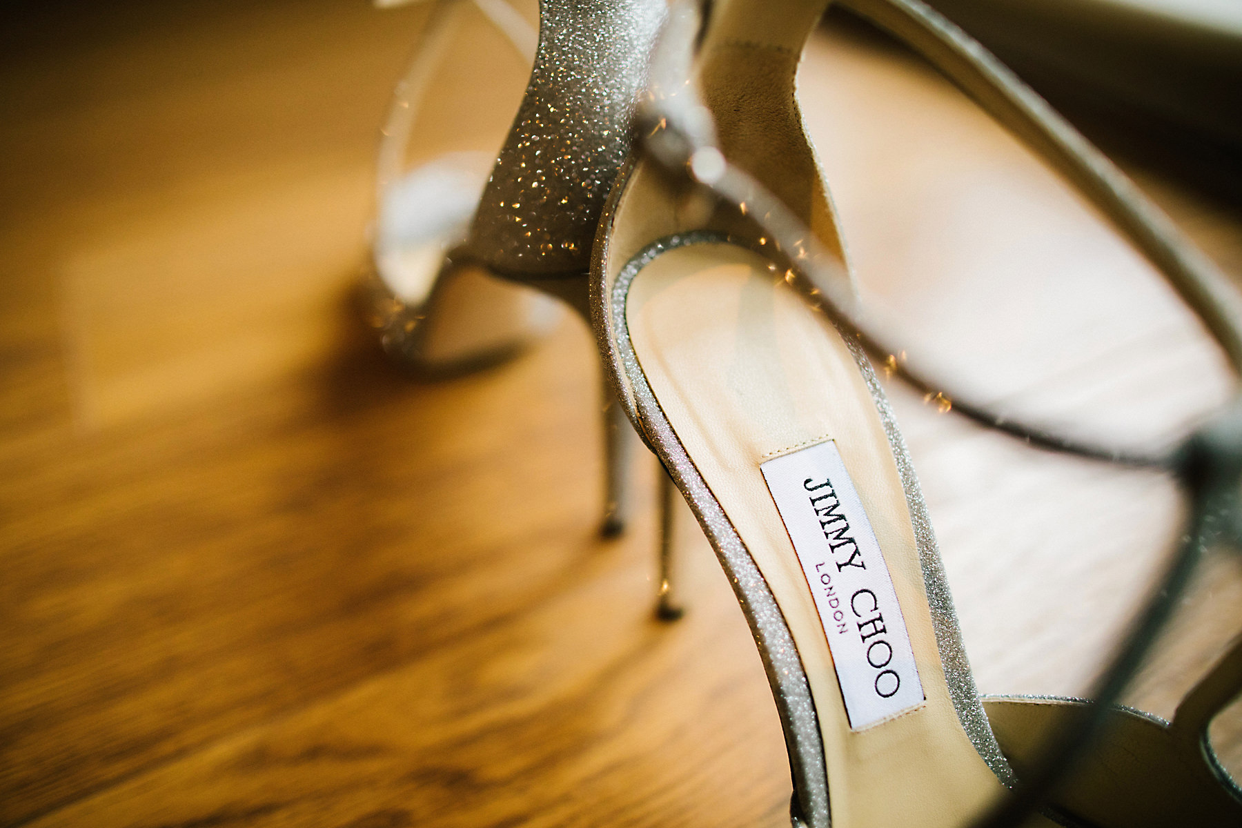 glittery jimmy choo wedding shoes