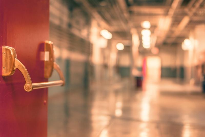 Fire door and corridor