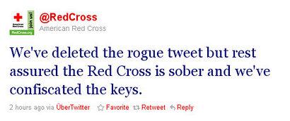 Red Cross Tweet 2 - Crisis Management Media Training - Kiasu Group