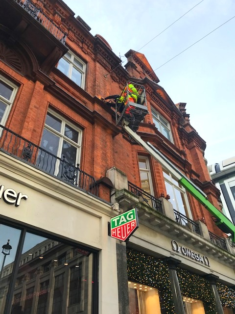 Facade lighting service - Oxford Street