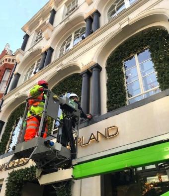 Facade lighting service - Oxford Street