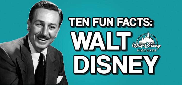 Ten Fun Facts On Walt Disney Kidsknowbest