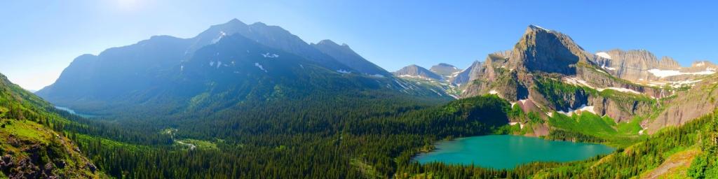 Beautiful mountain valleys