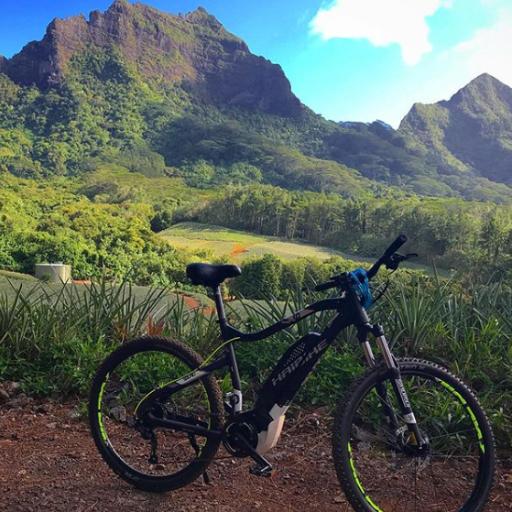 Mountain biking in Tahiti