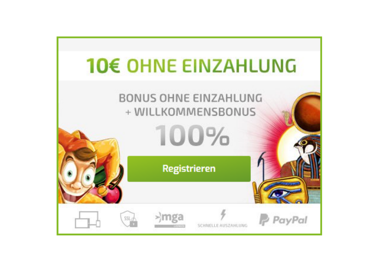 Get a100% up to €500 + €10 No Deposit Bonus now