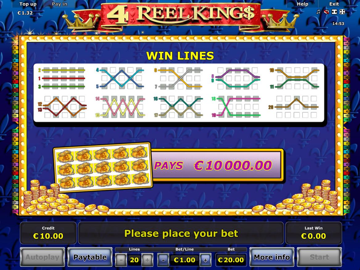 Jetzt 4 Reel Kings online spielen