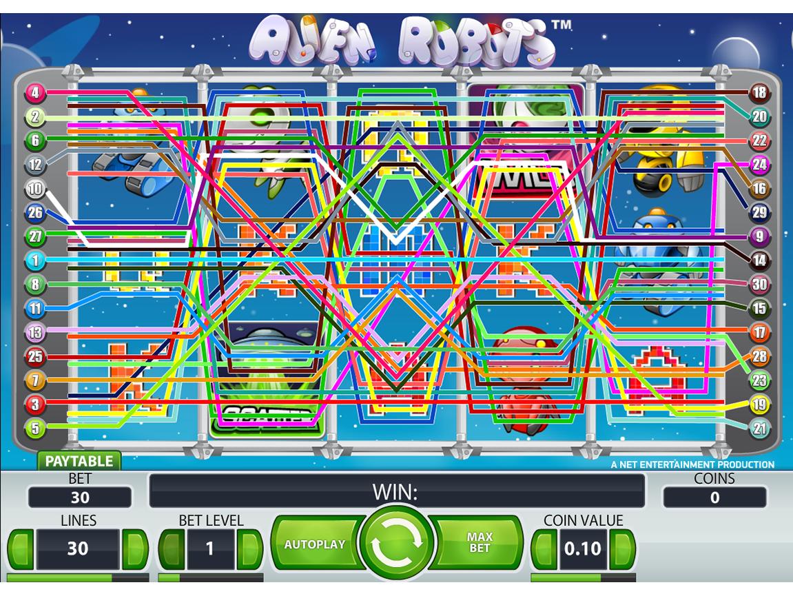 Jetzt Alien Robots online spielen