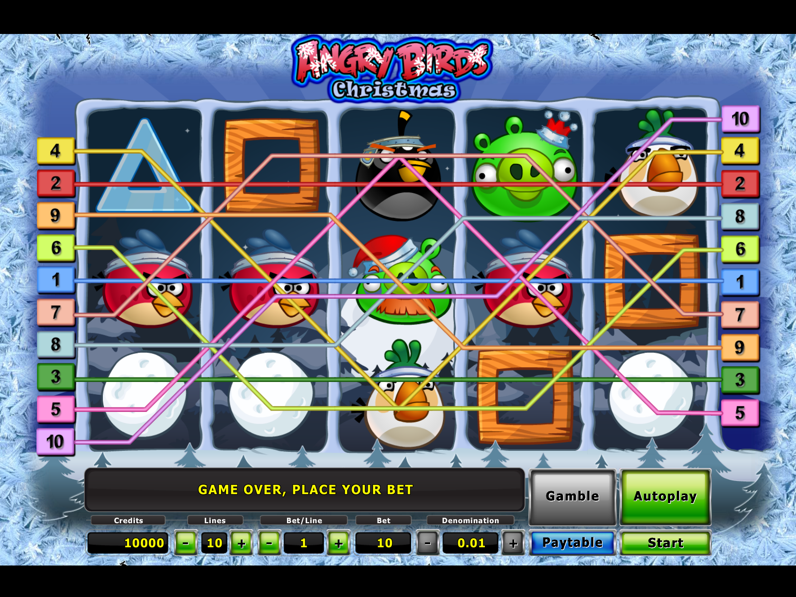 play Angry Birds Christmas online