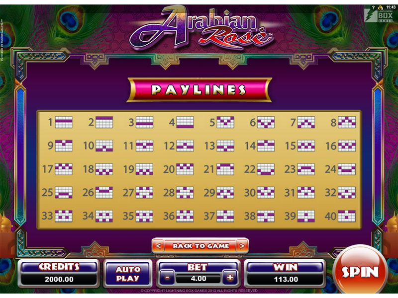 play Arabian Rose online