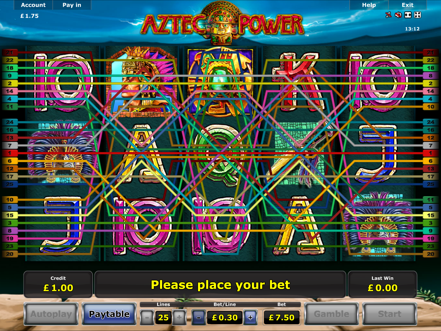 play Aztec Power online