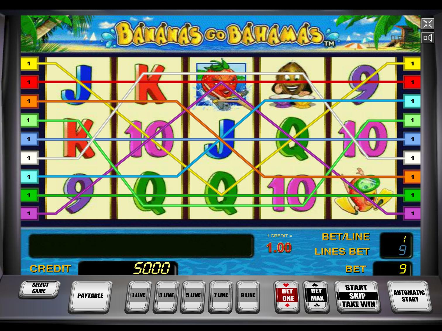 play Bananas Go Bahamas online