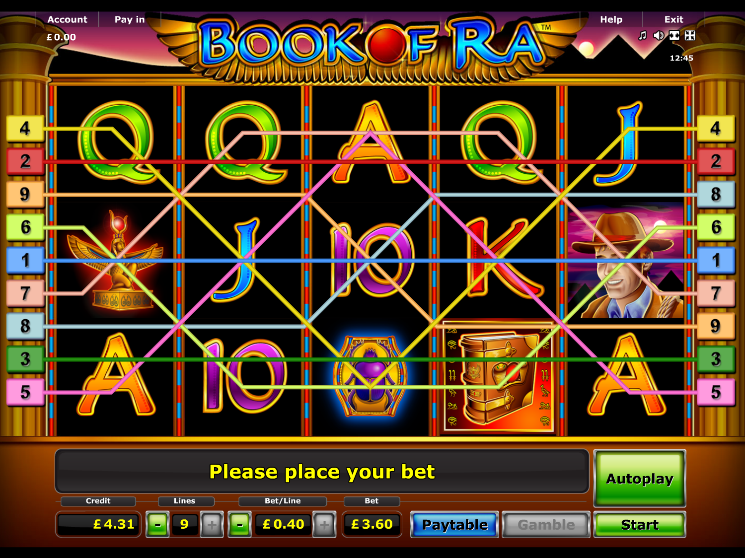 play Book of Ra online
