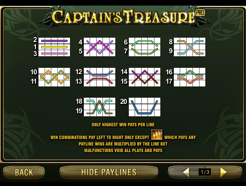 play Captain's Treasure Pro online