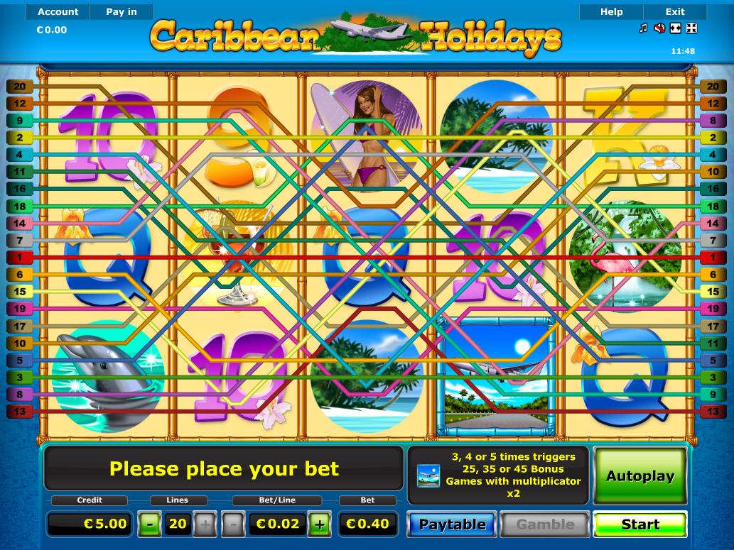 Jetzt Caribbean Holidays online spielen