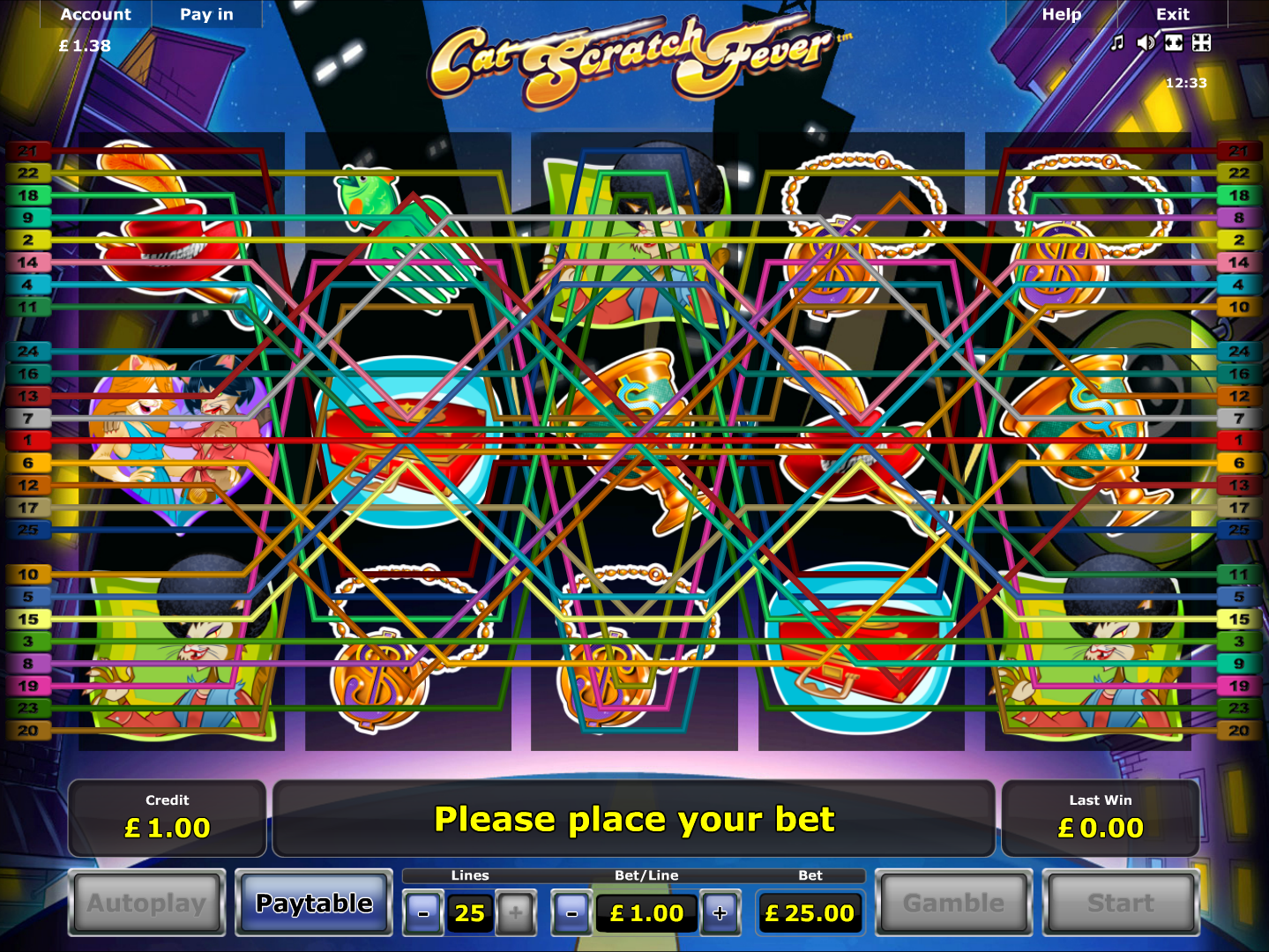 play Cat Scratch Fever online