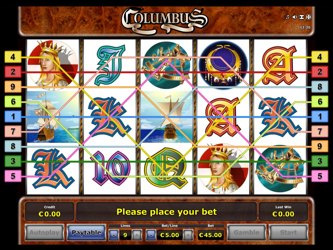 Jetzt Columbus online spielen