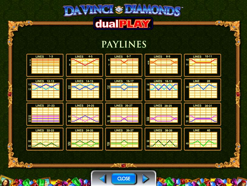 play Da Vinci Diamonds Dual Play online