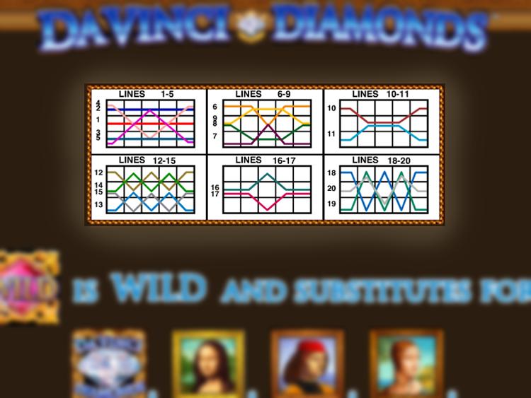 play Da Vinci Diamonds online