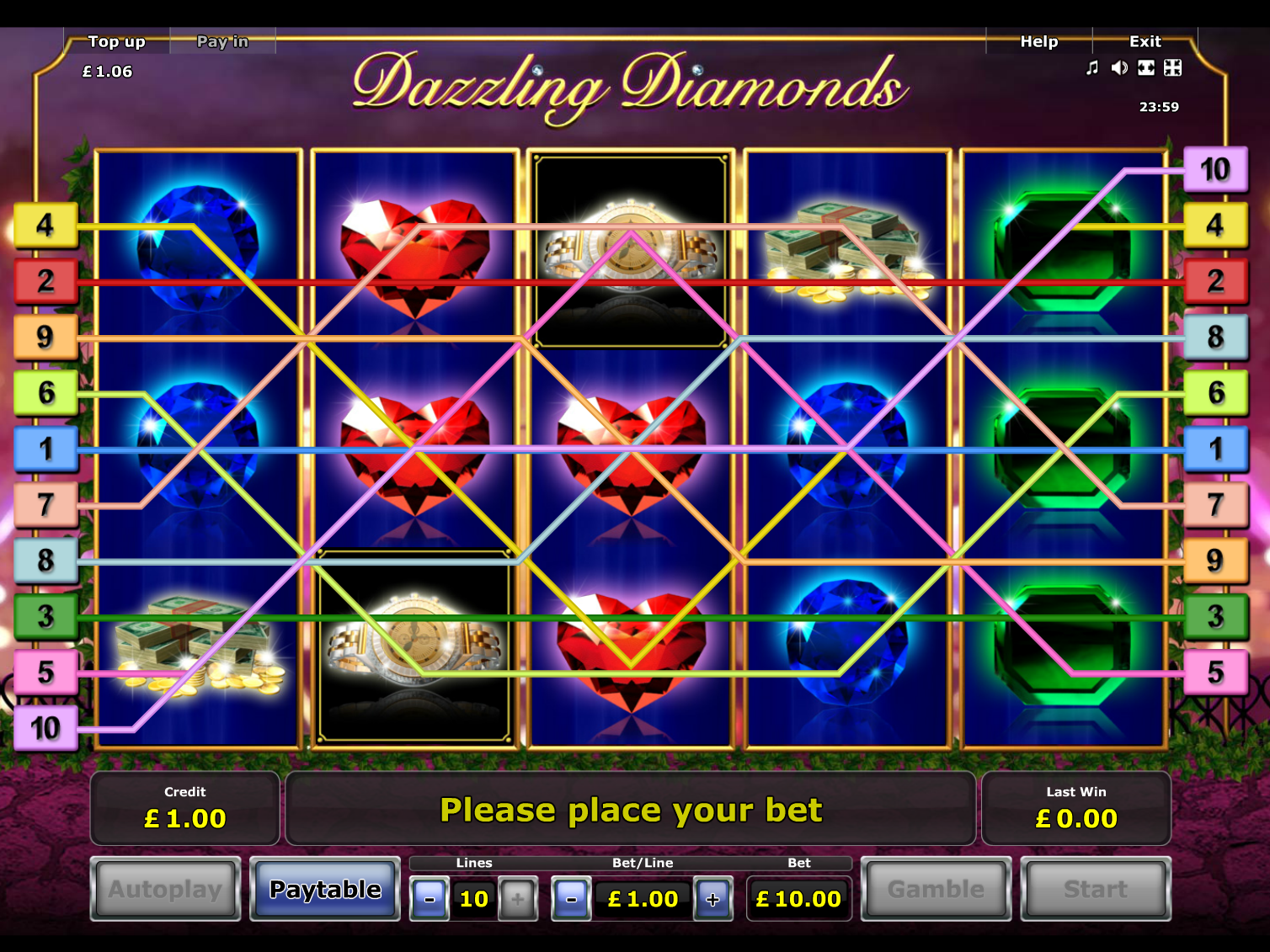 play Dazzling Diamonds online
