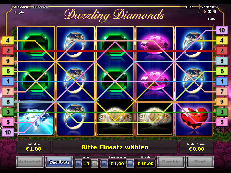 Jetzt Dazzling Diamonds online spielen
